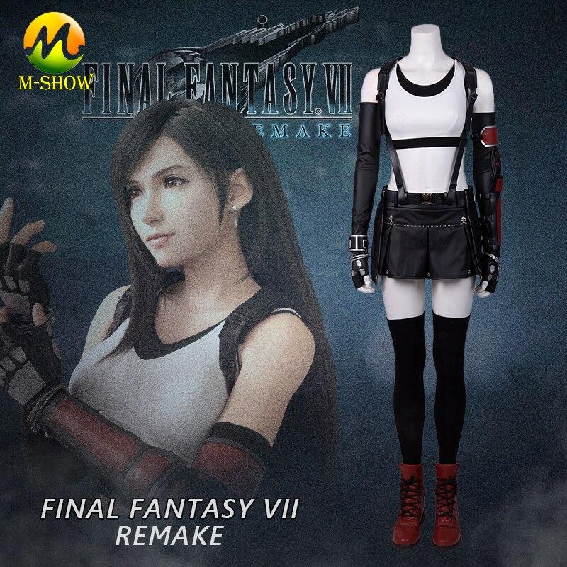 Final Fantasy VII remake Tifa Lockhart Cosplay traje caliente juego FF7 Tifa traje de Halloween Disfraces para Niñas mujeres hecho a medida