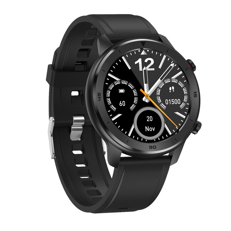 Reloj inteligente redondo NO.1 DT78, pulsera inteligente deportiva con control del ritmo cardíaco, dispositivos de actividad para hombre y mujer