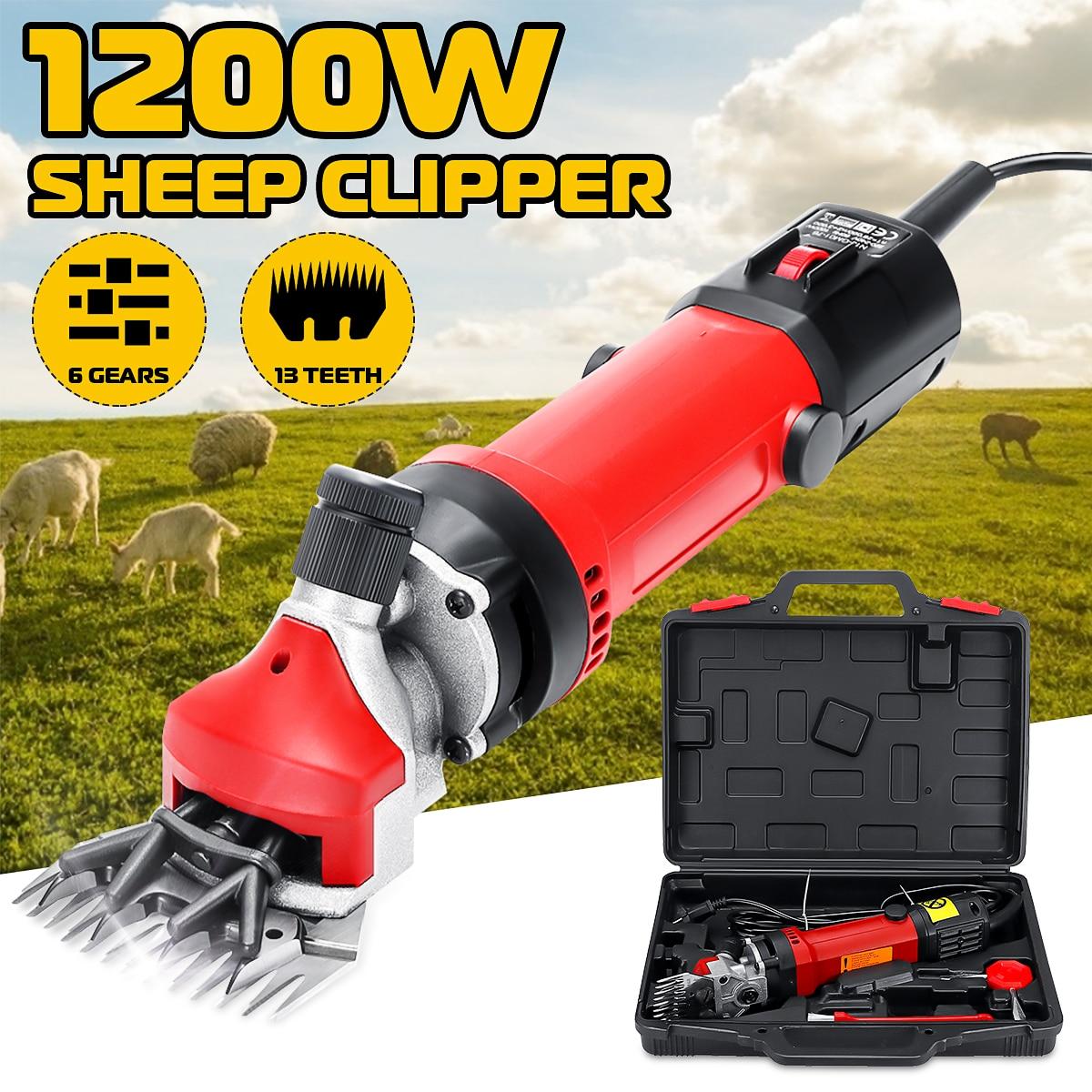 1200W US/EU Plug Electric Sheep Pet Hair Clipper Shearing Kit Shear Wool Cut Goat Pet Animal Shearing Supplies Farm Cut Machine