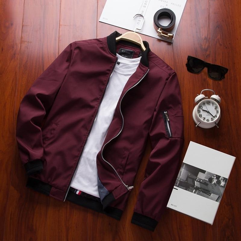 Бомбер DIMUSI мужской на молнии, Повседневная Уличная одежда, приталенный силуэт, пилот в стиле хип-хоп, пиджак, TA214, весна, 4XL