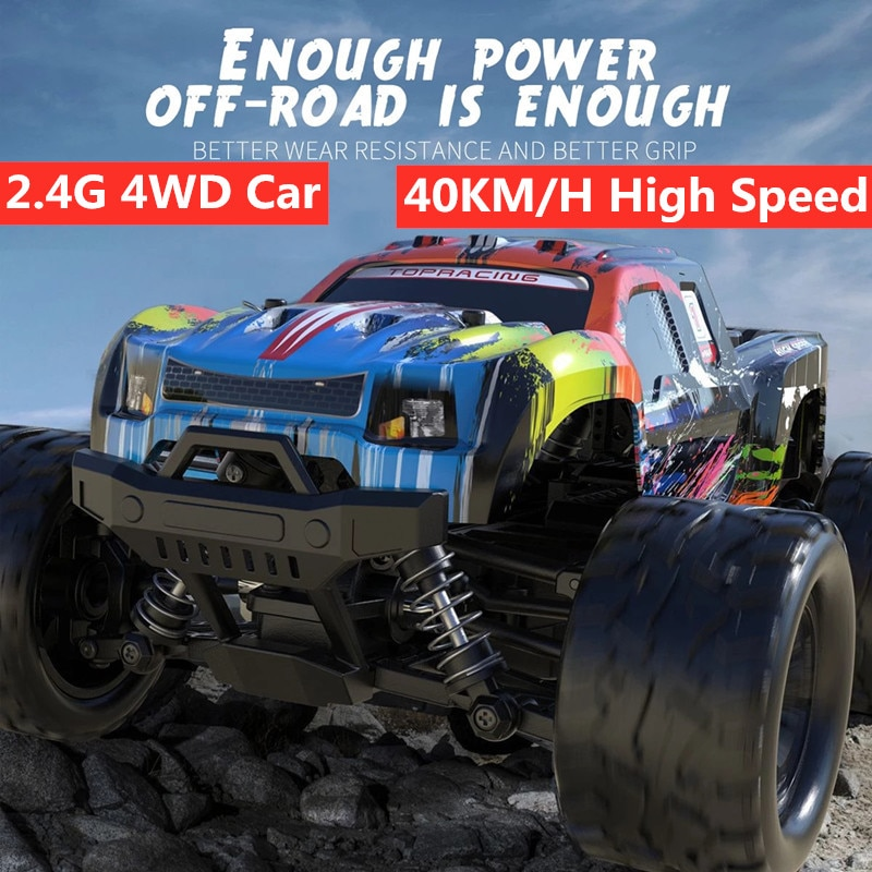 2.4G RC Racing Buggy Off-Road Climbing Vehicle 40KM/H High Speed Car With 3 Battery shock-absorbing Independent Anti-Crash Gifts