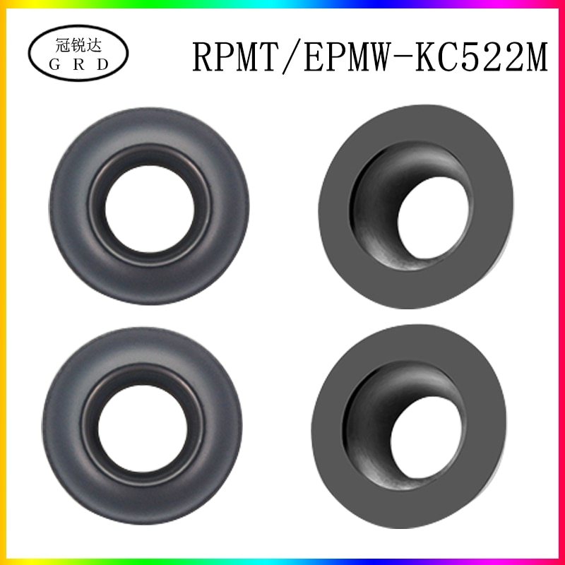 100% new R5 R6 round Insert RPMW RPMW1204 RPMW1003 blade KC522M for processing HRC48-68 degrees less than quenching material