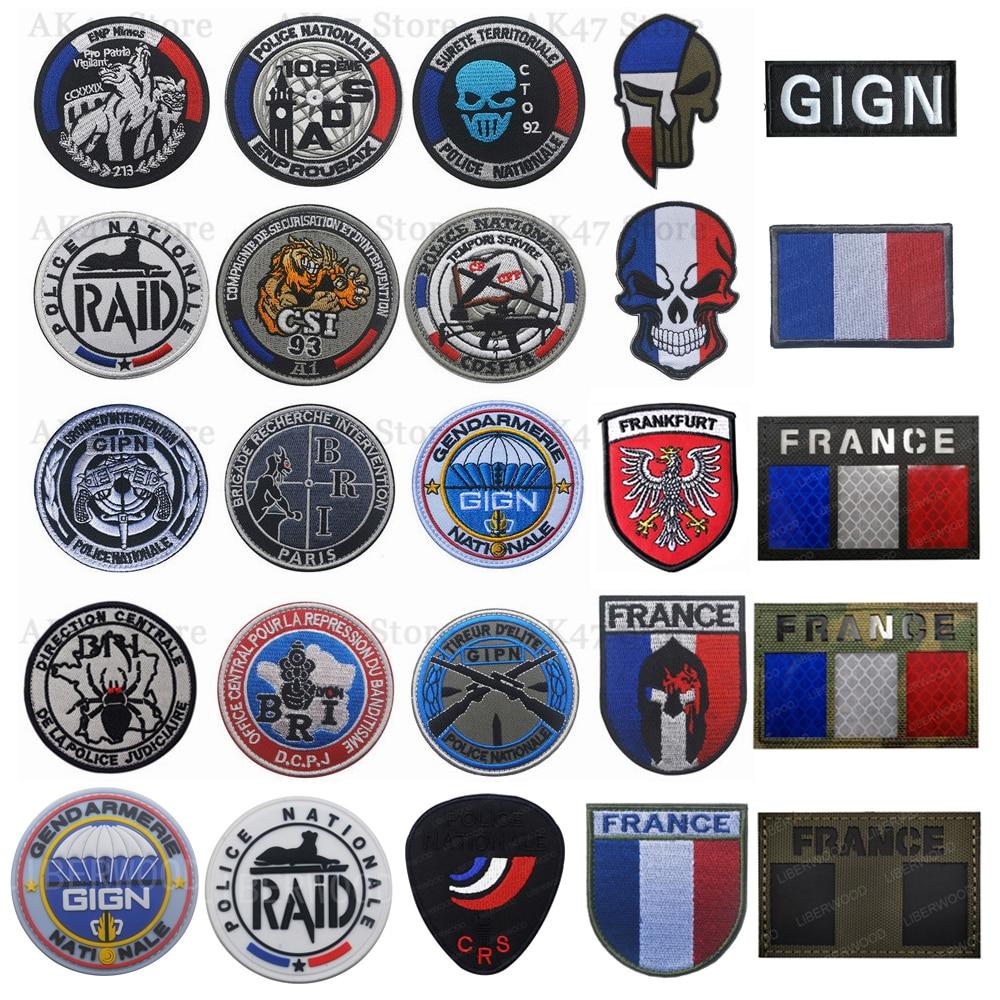 GlGN жандармерия национальная французская полиция спецназ патчи франкрейх Франция SWAT GIPN RAID POLIZEI BRI патч значок