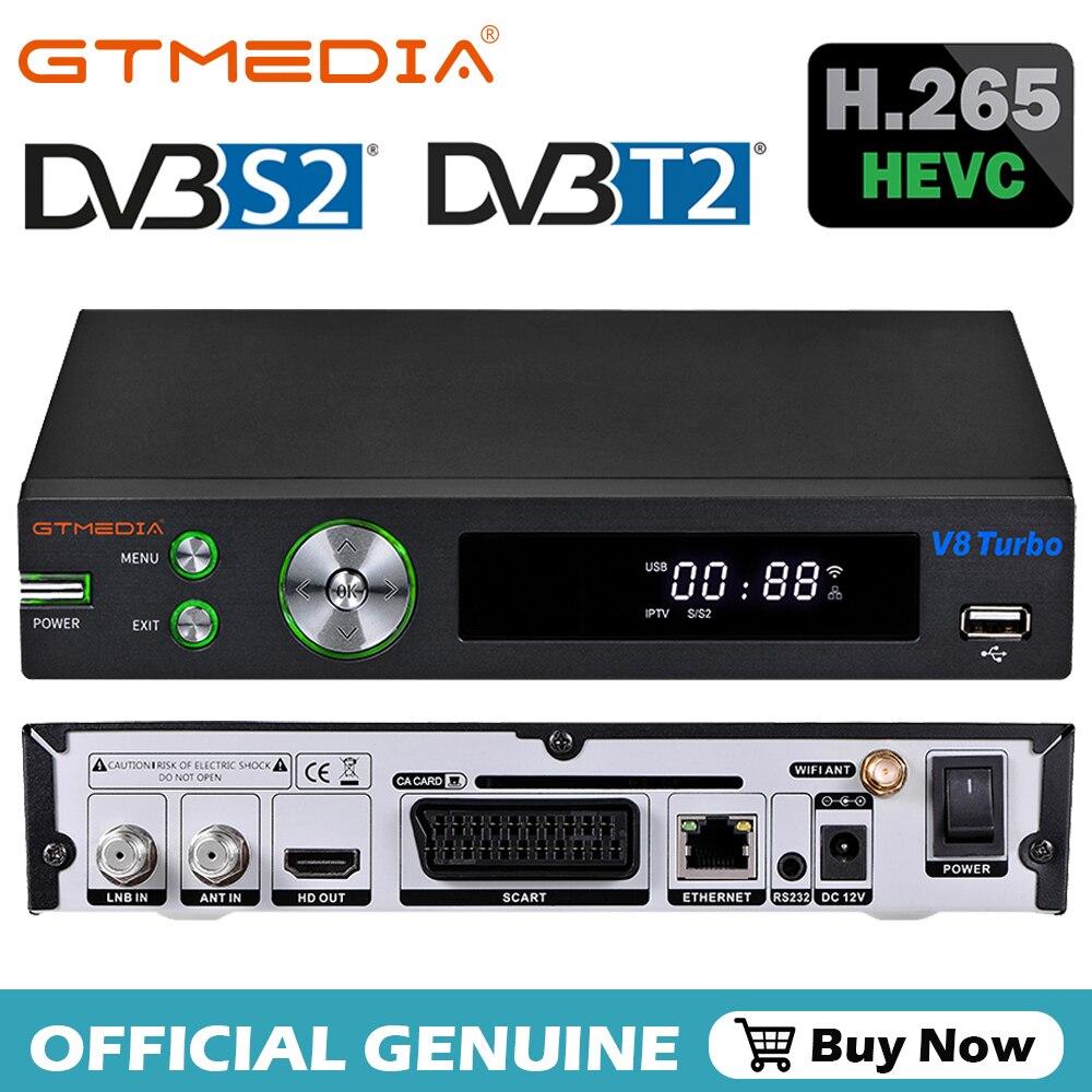 GTmedia V8 توربو استقبال الأقمار الصناعية صندوق التلفزيون فك HD DVB S2X T2 كابل 1080P دعم M3U ccam الأسهم في إيطاليا إسبانيا