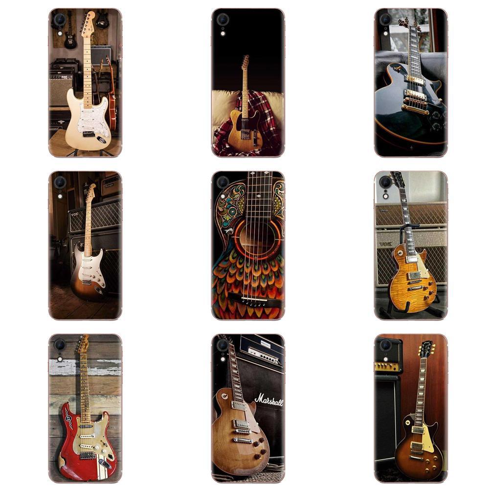 Segno di musica Violino Chitarra Casse Del Modello Del Telefono Per Xiaomi Redmi 3 3S 4 4A 4X 5 6 6A 7 k20 Nota 2 3 4 5 5A 6 7 Plus Pro