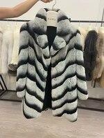 women winter warm super soft real natural rex rabbit fur coat high quality genuine rex rabbit fur winter jacket 82cm
