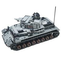 WW2 Military Series Germany IV Tank Building Blocks Military Tank Army Soldiers Weapon Parts Bricks Toys X700
