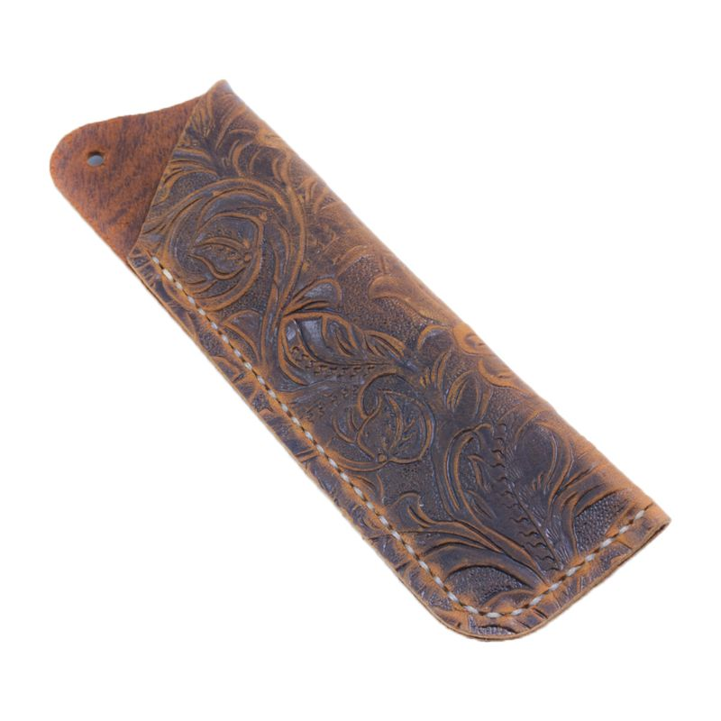 Estuche de cuero para lápices, estuche para pluma estilográfica, funda para estuche de viaje con soporte para pluma de estilo clásico