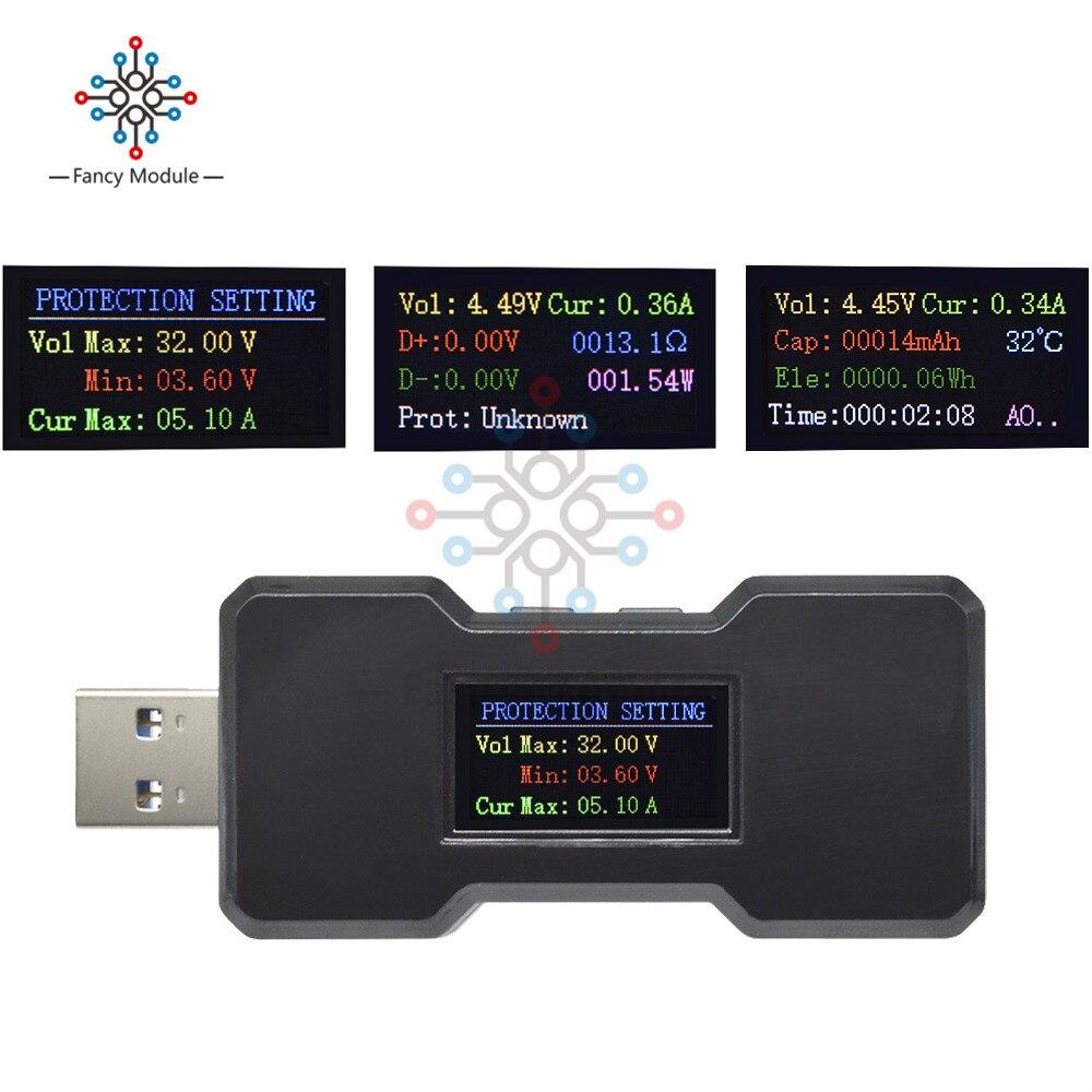 FNB18 QC3.0QC2.0 chargeur rapide détecteur multifonctionnel USB 3.0 voltmètre ampèremètre testeur de capacité de batterie Watt mètre moniteur