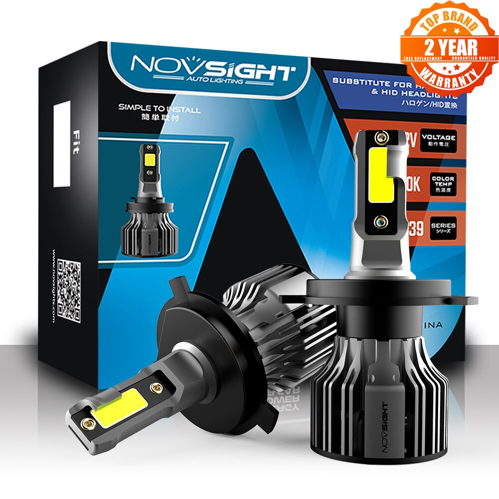 NOVSIGHT مصباح أمامي Led للسيارات H4 H1 H3 H7 H11 H8 H9 9005 9006 9007 9012 الضباب مصابيح كهربائية 72W 10000LM 6000K سيارة السيارات المصابيح الأمامية