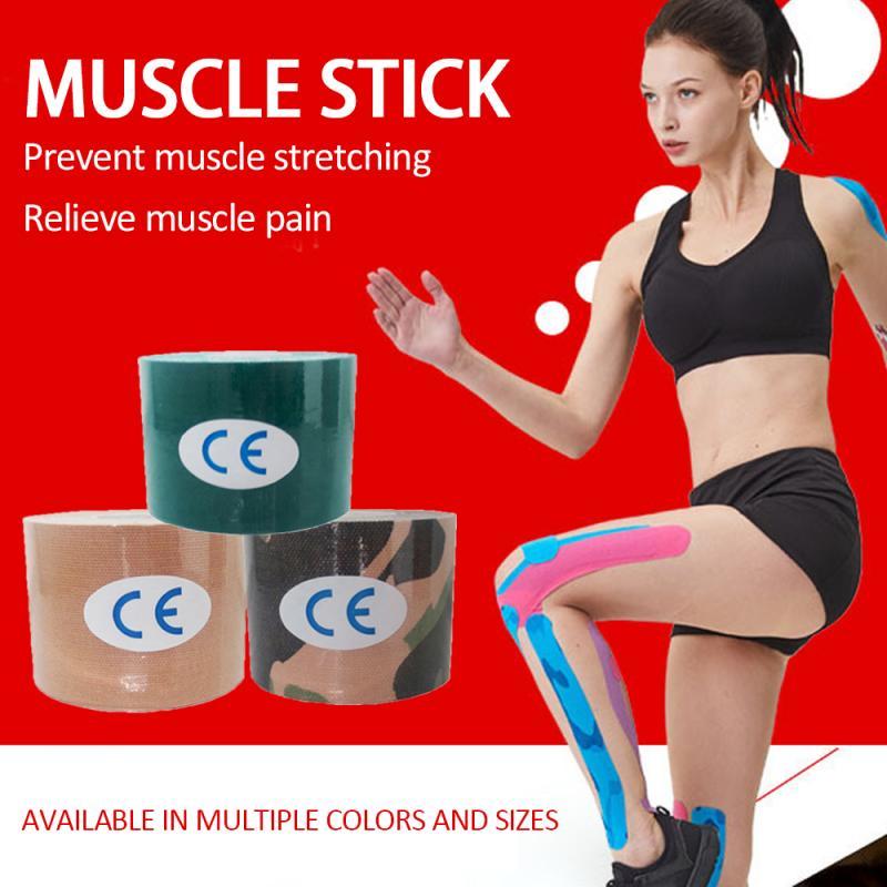 Rollo de algodón elástico cinta adhesiva recuperación rodillera deportiva vendaje muscular seguridad alivio del dolor muscular rodilleras apoyo gimnasio Fitness