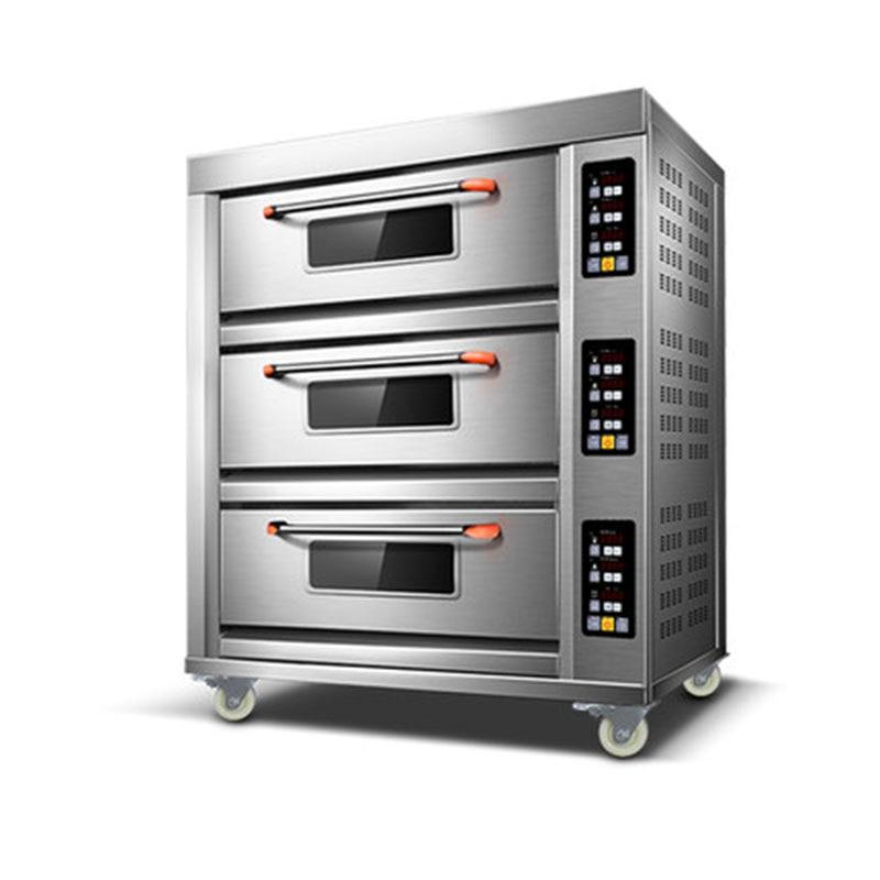 56L * 3 ثلاثة طبقة فرن كهربائي البيتزا فرن خبز فرن المخبز الكهربائية التجارية فرن كبير متعدد الوظائف فرن 220 فولت/380 فولت