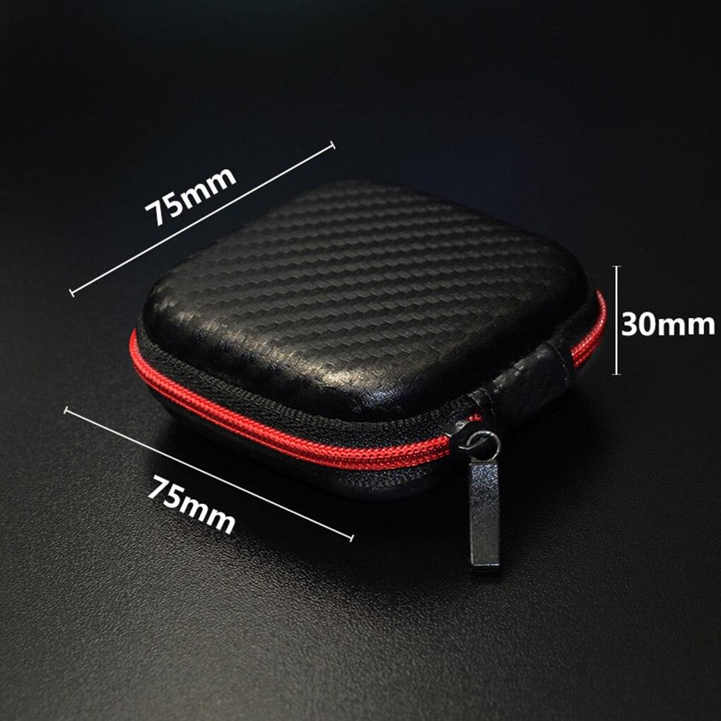 Funda de auriculares para KZ Zipper caja de almacenamiento para auriculares portátiles estuche rígido estuche de transporte auricular Organizor