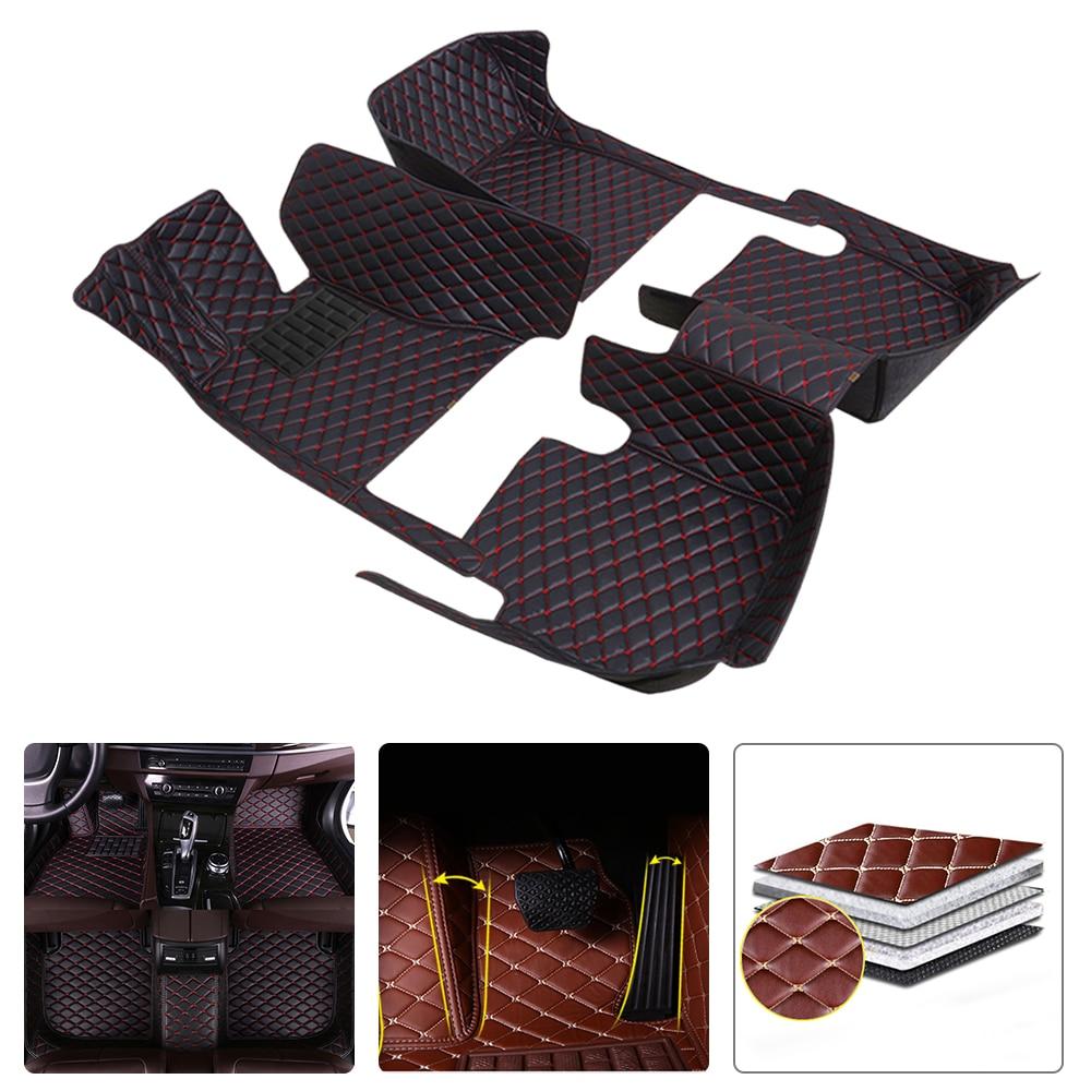 Leather Car Floor Mats For BMW 4 Series F32 F33 F36 (2door) 2013-2018 2019 Custom Waterproof Foot Cover Auto Modeling Carpet enlarge