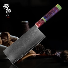 XITUO couteau de cuisine damas en acier   67 couches forgé couteau de Chef chinois tranchant utilitaire Santoku Cleaver Stable manche en bois massif nouveau