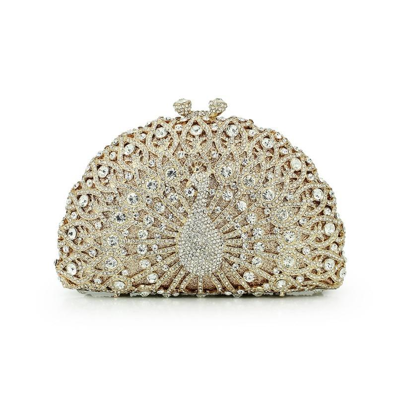 حقيبة يد نسائية صغيرة مرصعة بالكريستال ، حقيبة كتف فاخرة مرصعة بأحجار الراين ، للحفلات المسائية أو العشاء
