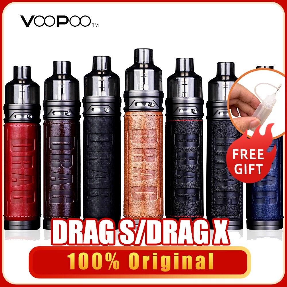 Original VOOPOO Drag X Drag S Pod Vape Kit 80W 60W 4.5ml Cartridge GENE.TT Chip PnP-VM1 VM5 VM6 Coil