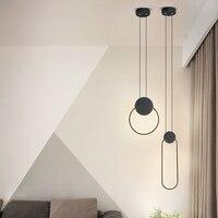 Современсветодиодный светодиодные подвесные светильники в минималистичном стиле для ресторана/кафе/гостиной/подвеска у кровати лампочек,...