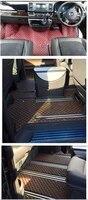 custom full set car floor mats for right hand drive volkswagen multivan t6 t5 2021 2003 6 7 seats waterproof durable carpets