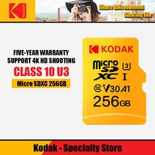 Kodak carte mémoire micro sd 256gb Class10 étanche TF U3 carte pour téléphones intelligents 16gb 32gb 64gb 128gb 256gb