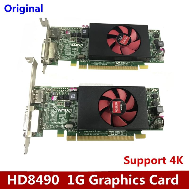 تستخدم أصلا لبطاقة الفيديو ديل HD8490 ، ودعم 4K ريال 1G DDR3 عالية الوضوح لعبة نصف ارتفاع بطاقة جرافيكس DVI DP