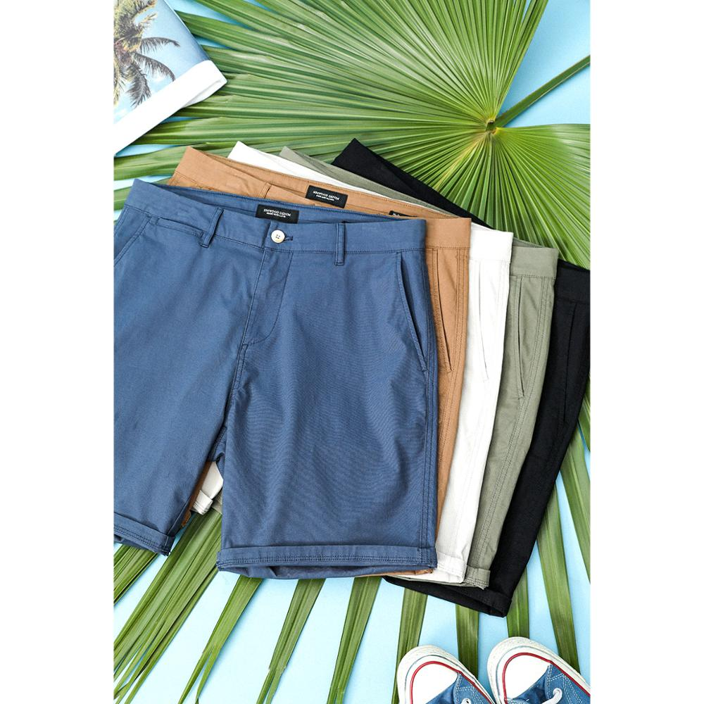 Мужские летние шорты до колен SIMWOOD, зеленые однотонные шорты с эффектом потертости, Классические шорты, модель SJ130359, 2021
