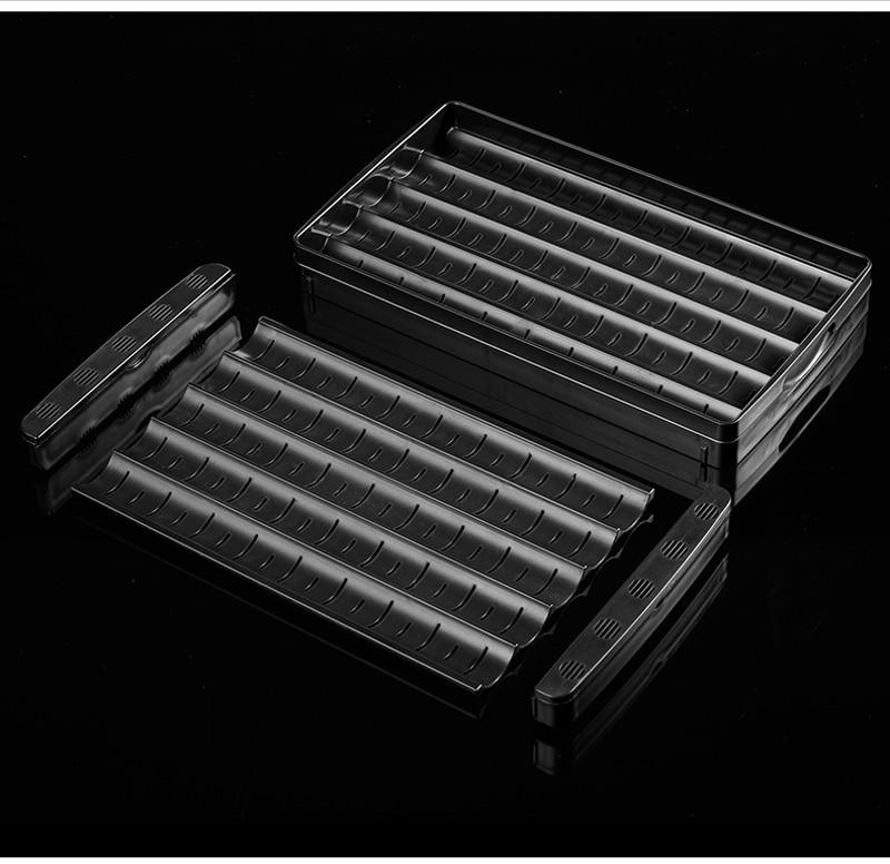 Jifeng portátil metal goma forrado com humidor