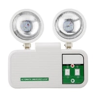 adjustable 2w dual lamp head exit 8 leds emergency light 110 220v eu plug high brightness led lamp