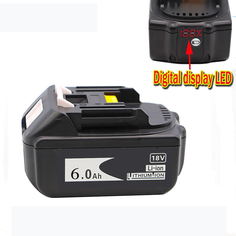 Newest Version 2PCS BL1860 18V 6.0Ah Rechargeable Lithium battery for Makita Power Tool Batteries BL1815 BL1830 BL1840 BL1850 enlarge