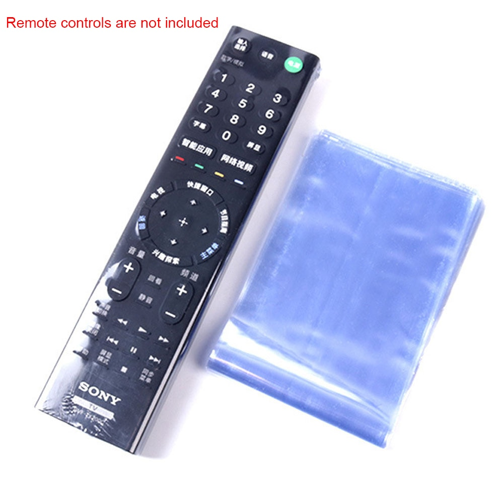 10pcs Television Accessories PVC Protective Cover Waterproof Heat Shrink Film Remote Controller Slee