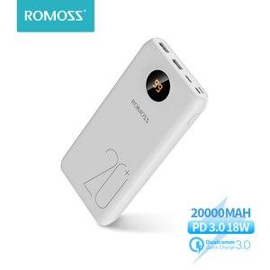 20000 мАч ROMOSS SW20 Pro портативное зарядное устройство Внешний аккумулятор PD 3,0 Быстрая зарядка с светодиодный дисплеем для телефонов и планшетов