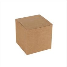 50 pièces/lot 40 tailles en stock Kraft papier carton boîte carrée cadeau emballage boîte pour bonbons/Cookie/bijoux Stoarge boîte de papier