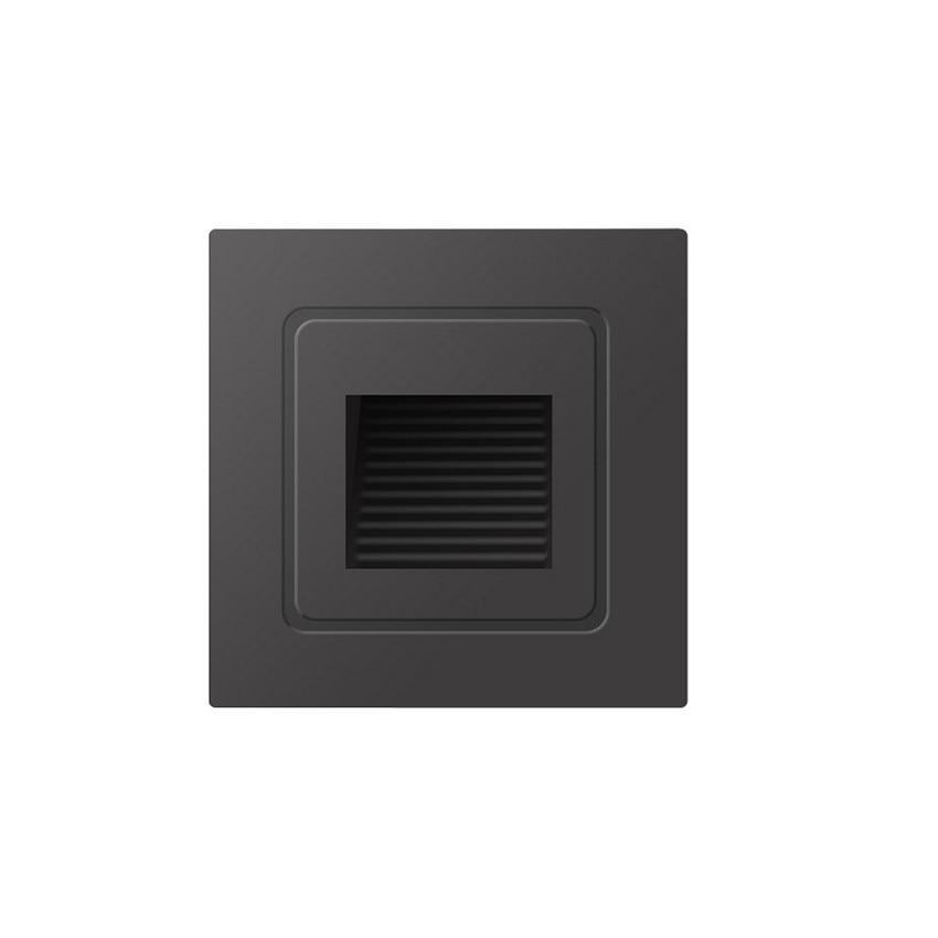 Luz de escalera LED de 3W, luces de paso de aluminio, lámpara empotrada con caja empotrada, luces de escalones impermeables para exteriores, AC85-265V ML01