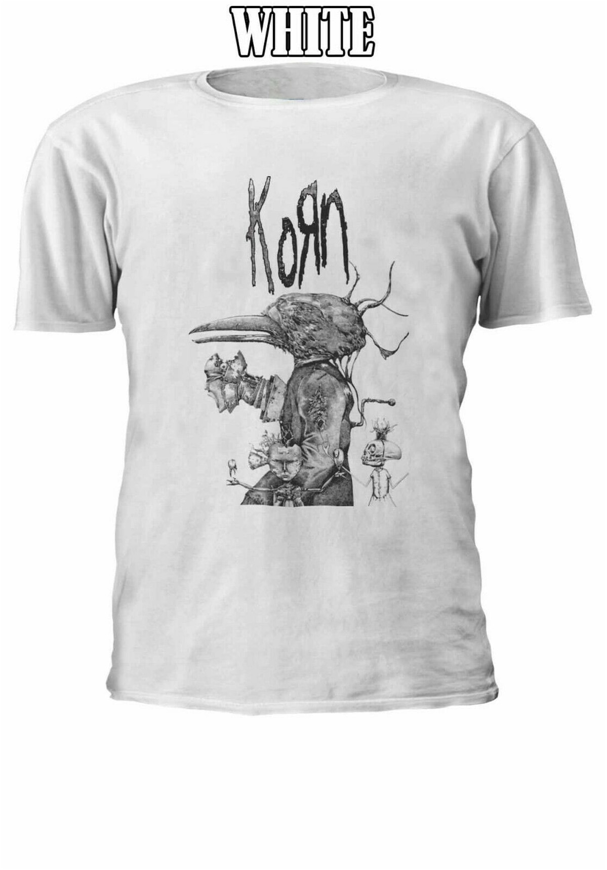 KORN NU HEAVY METAL hombres mujeres Unisex camiseta chaleco béisbol Hoodie 2679 nuevo Unisex divertido Tops camiseta