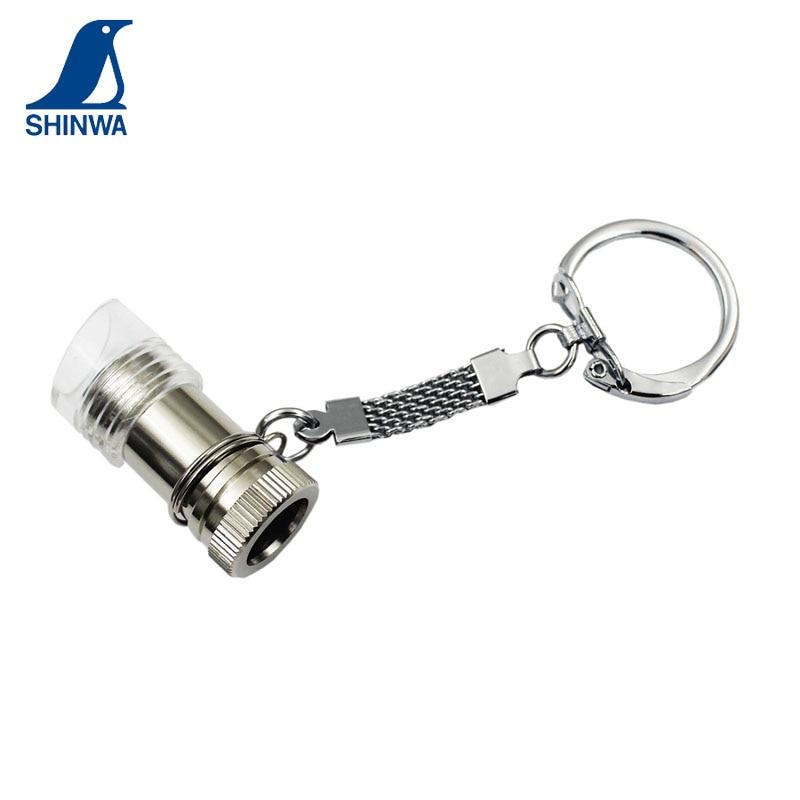 Lupa de pingüino SHINWA, Super Mini, de 10mm, 15 veces, 75543 con llavero, accesorio de regalo bonito, 1 Uds.