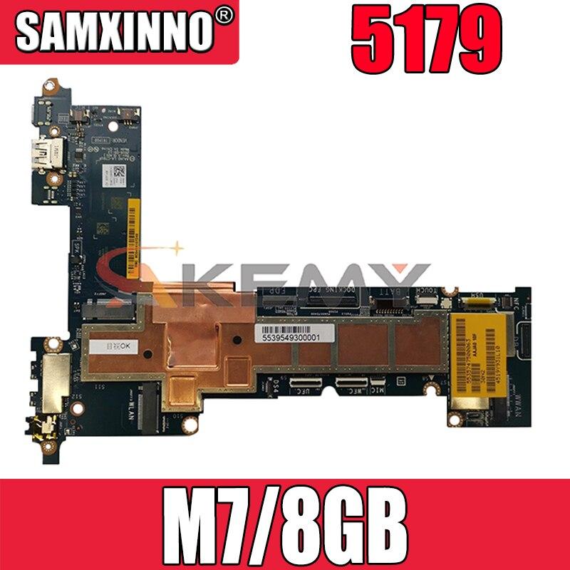 Akemy العلامة التجارية الجديدة M7/8GB لديل خط العرض 5179 اللوحة الأم AAJA0 LA-C791P CN-0W1D2D W1D2D اللوحة الرئيسية 100% اختبارها
