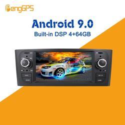 Android 9.0 PX5 4 + 64GB carro Sem DVD player Embutido DSP Rádio multimídia Carro Para Fiat Grande Punto linea 2006-2012 Navegação GPS