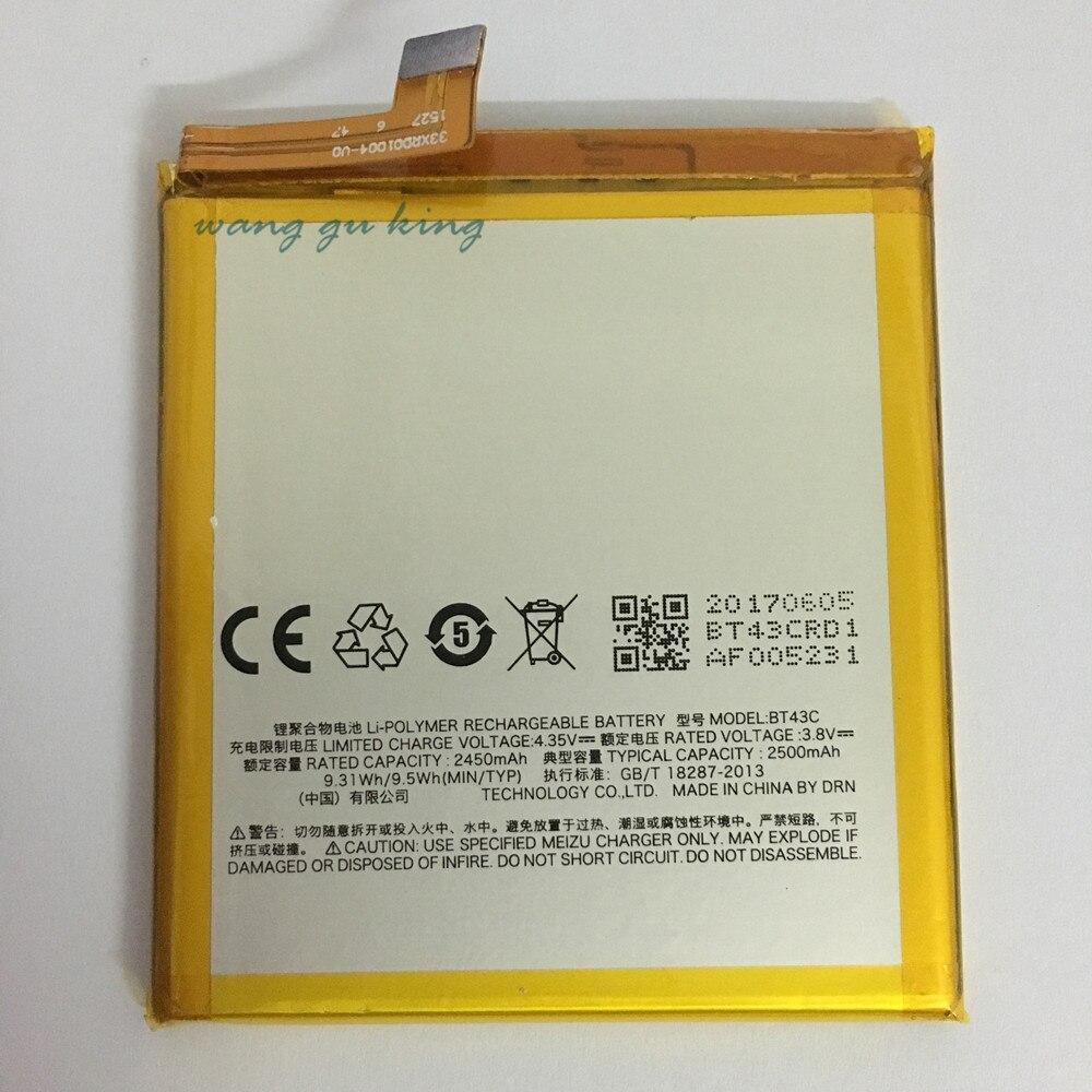 1pcs 100% High Quality BT43C 2450mAh Battery For MEIZU M2MINI M2 MINI Mobile phone