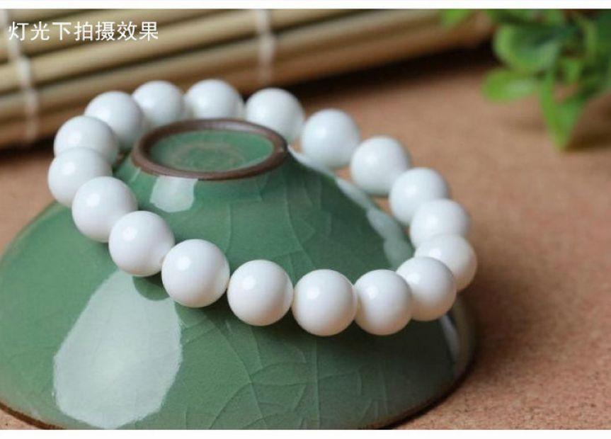 10mm naturaleza Mar Blanco tridacna perla mala brazalete almeja gigante oración abalorio pulsera amuleto