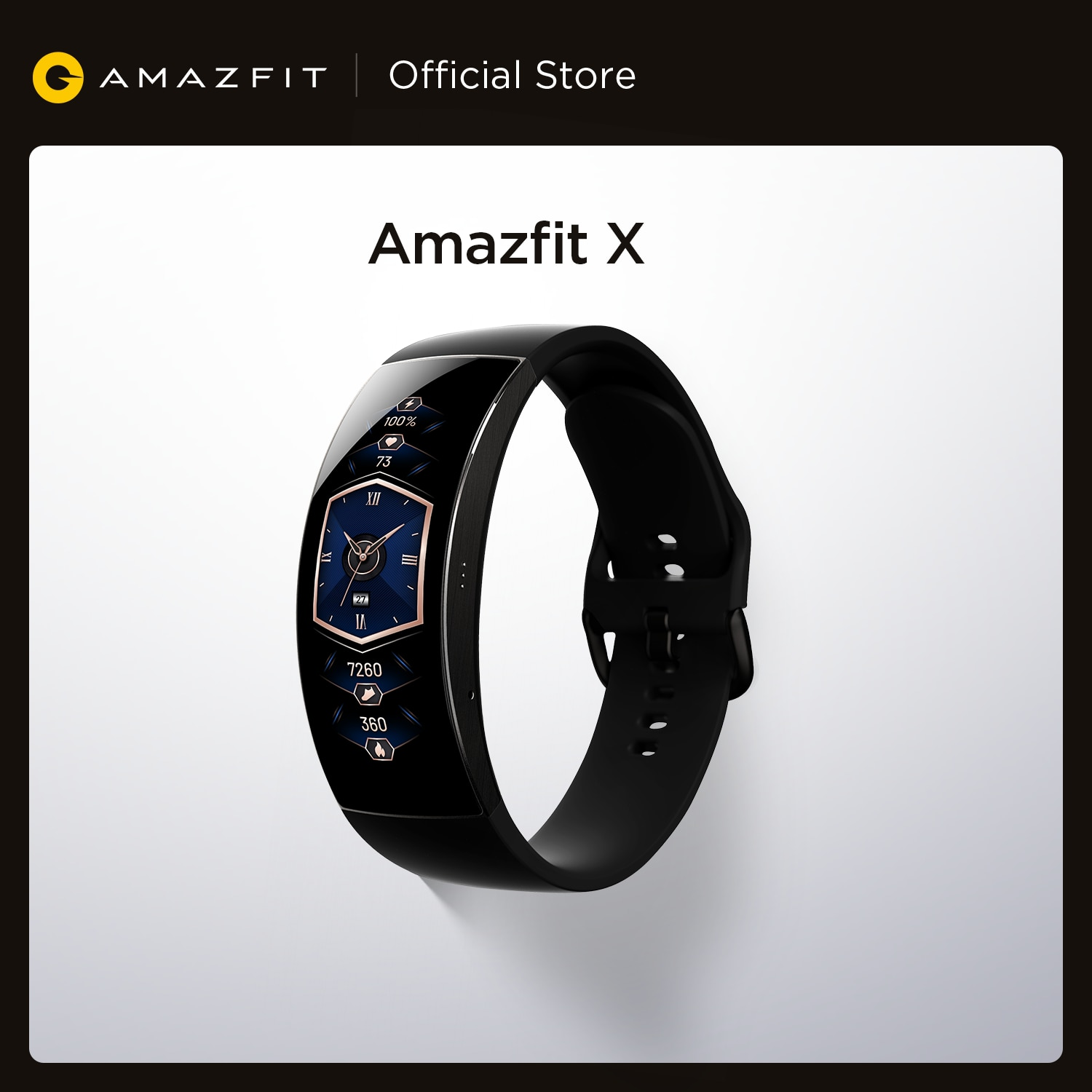 Amazfit X Smartwatch Global Version Curved Screen Titanium Body Sleep Monitoring 5ATM Water Resistant Multi Sports Modes