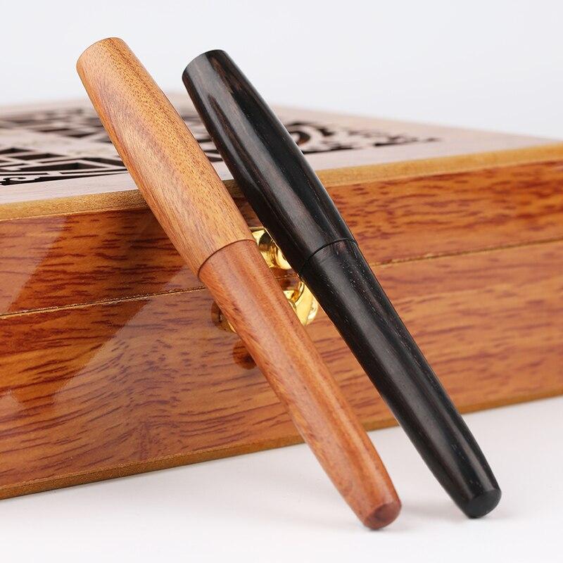Moonman Natürliche Handgemachte Holz Brunnen Stift Full Holz Schönen Stift EF/F/Kalligraphie Gebogen Nib Mode Schreiben Tinte stift Geschenk Set
