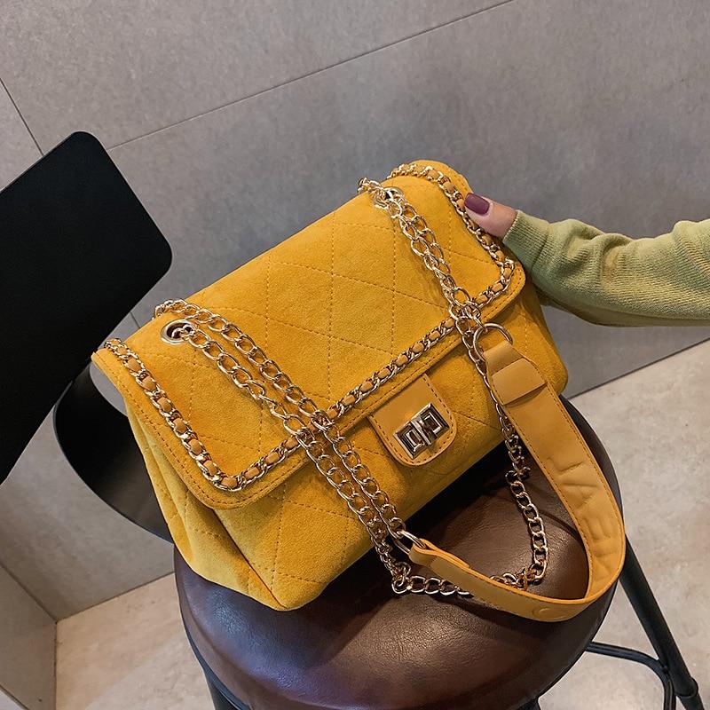 Large bag female bag 2020 new PU leather wild large-capacity shoulder bag fashion diamond chain bag diagonal female bag