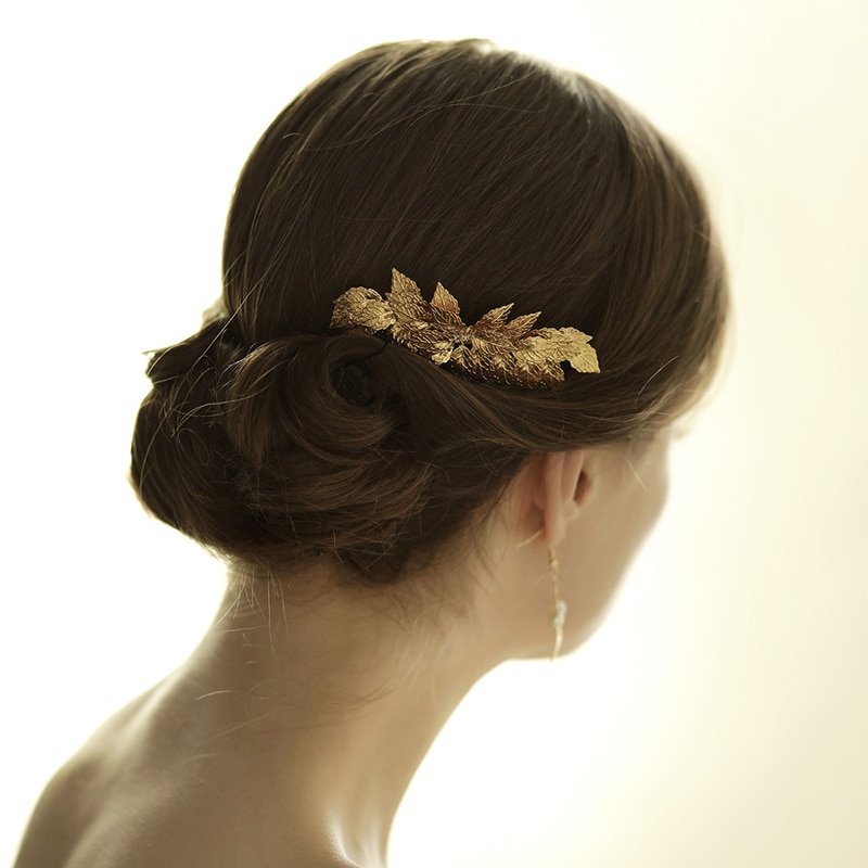 O831 Handmade alloy leaves bridal wedding hair comb fashion goody bride wedding hair accessory bridal hairpiece недорого