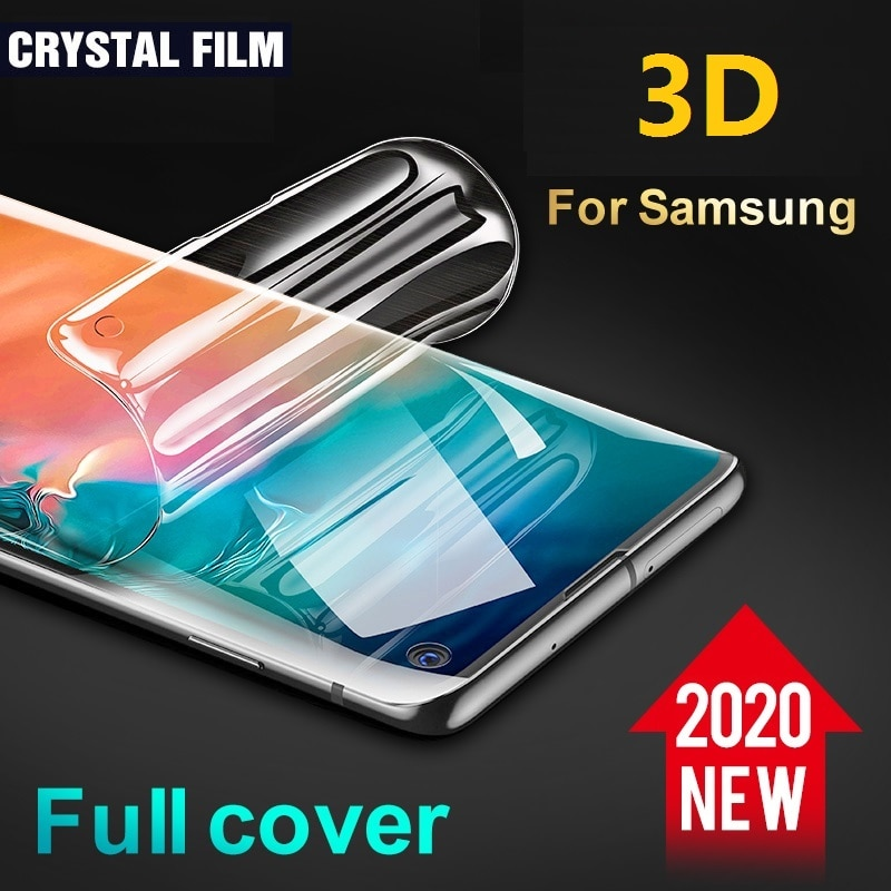 3D Full Screen Protector for Samsung S20 Ultra Plus Protective Film for Samsung S10 S9 S8 Plus (Not Glass) Screen Protector Foil