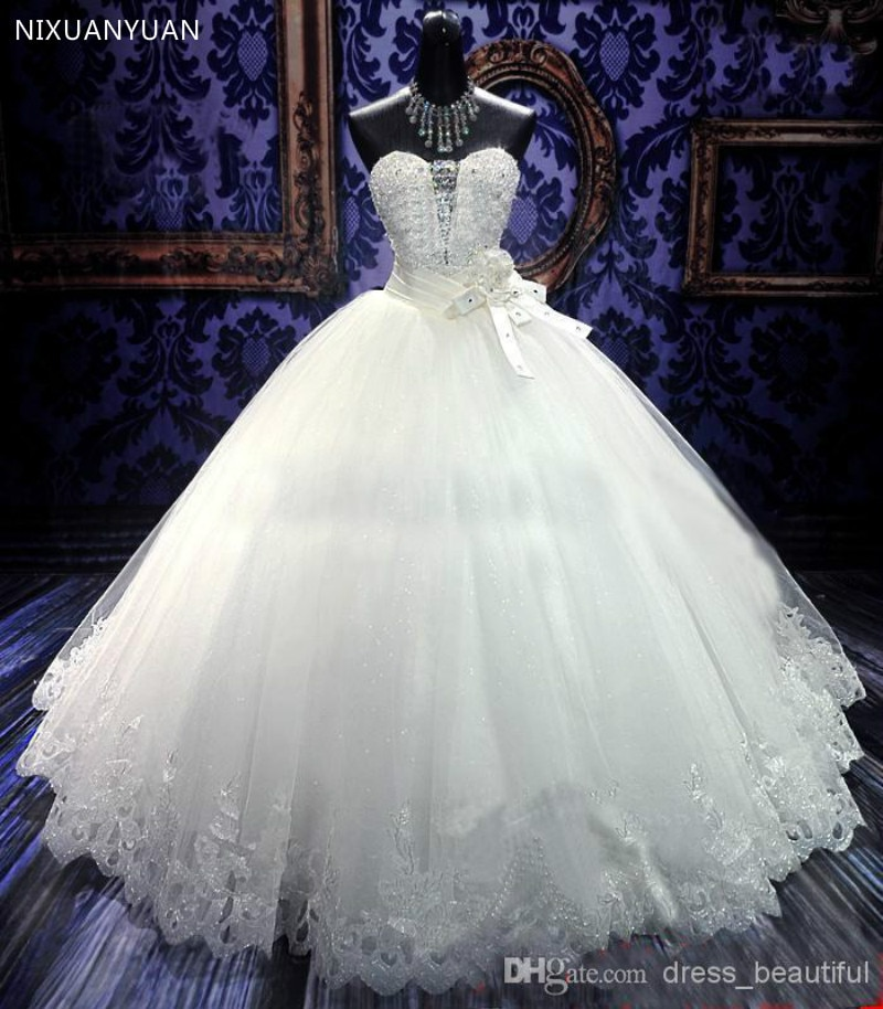 Promo Casamento Luxury Crystal Bandage Dress Vestido De Noiva 2021 Fashionable Sweetheart Sexy Wedding Dress Bridal Gown Free Shipping