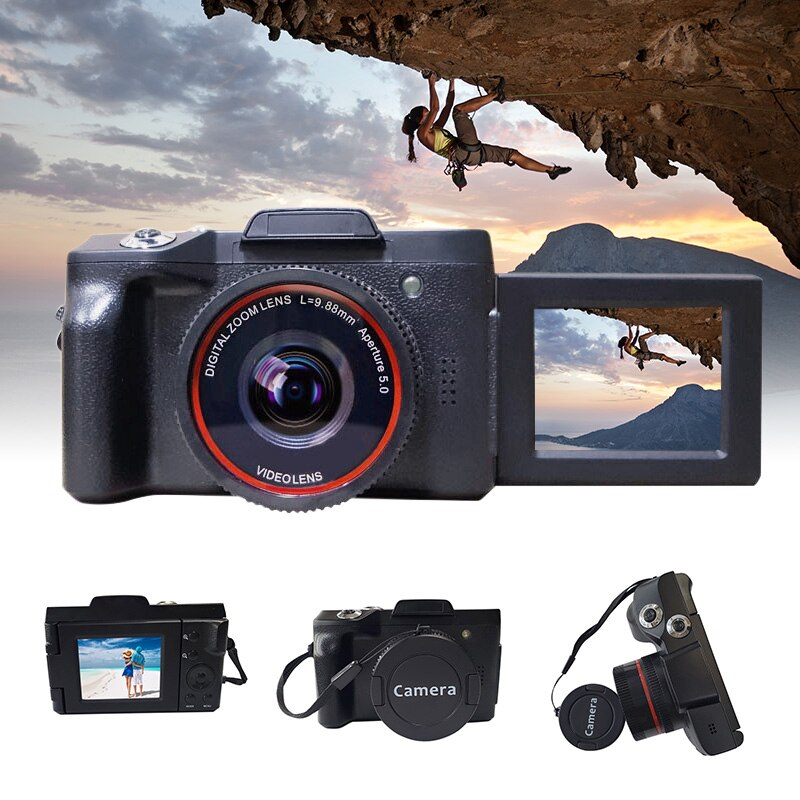 Videocámara Digital Full HD 1080P 16MP con lente gran angular para YouTube Vlogging LHB99