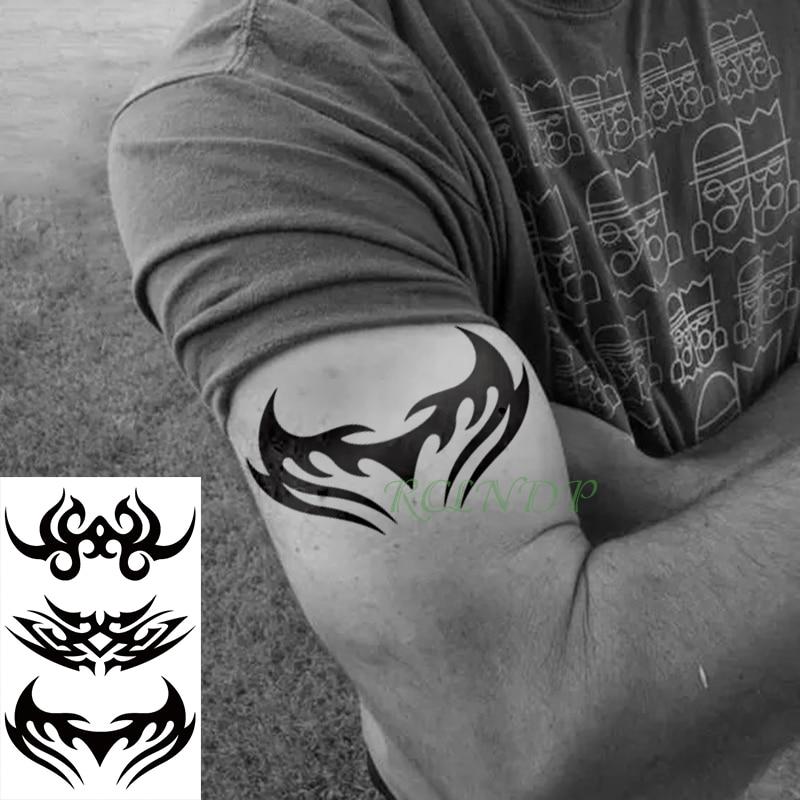 Tatuaje temporal a prueba de agua pegatina Tribal tótem henna tatuaje flash tatuajes falsos tatuaje de pie para chica mujeres hombres