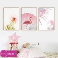 Toile de decoration de noel  affiches danimaux  oiseau rose et fleur  tableau dart mural pour decoration de salon  decoration de maison