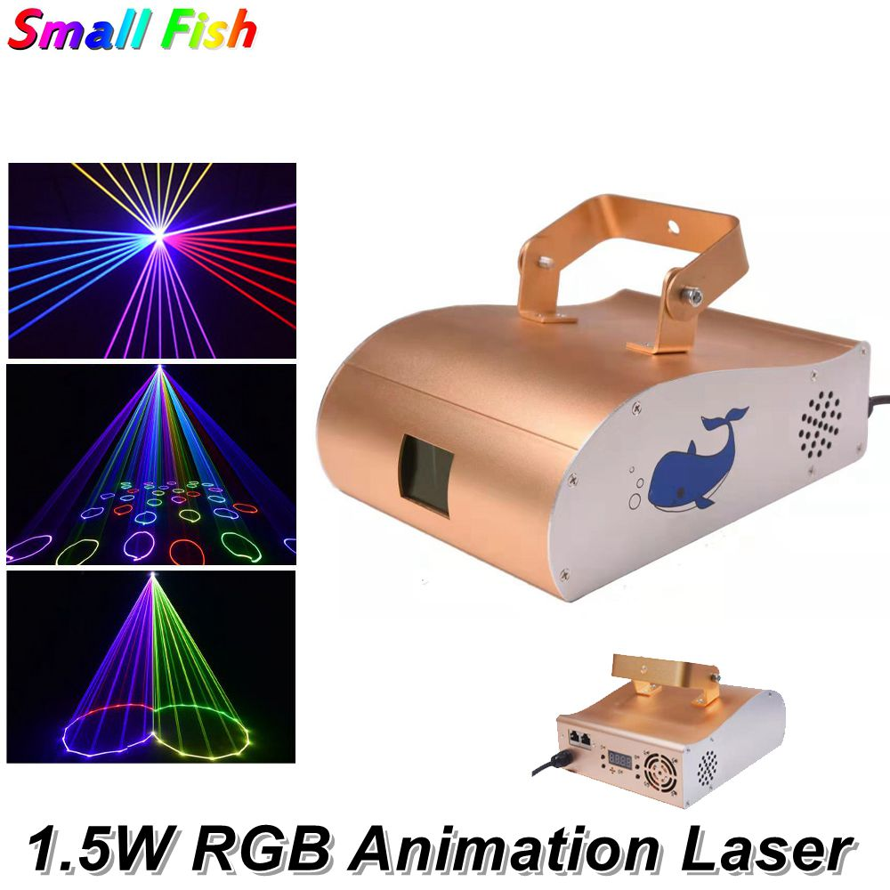20KPPS Animation Laser Light 1550MW 1.5W DMX Laser Line Scanner Stage Lighting Effect Christmas Projector Laser Dj Light Music 20kpps laser scanning galvo scanner ilda closed loop max 30kpps for laser 3d printer