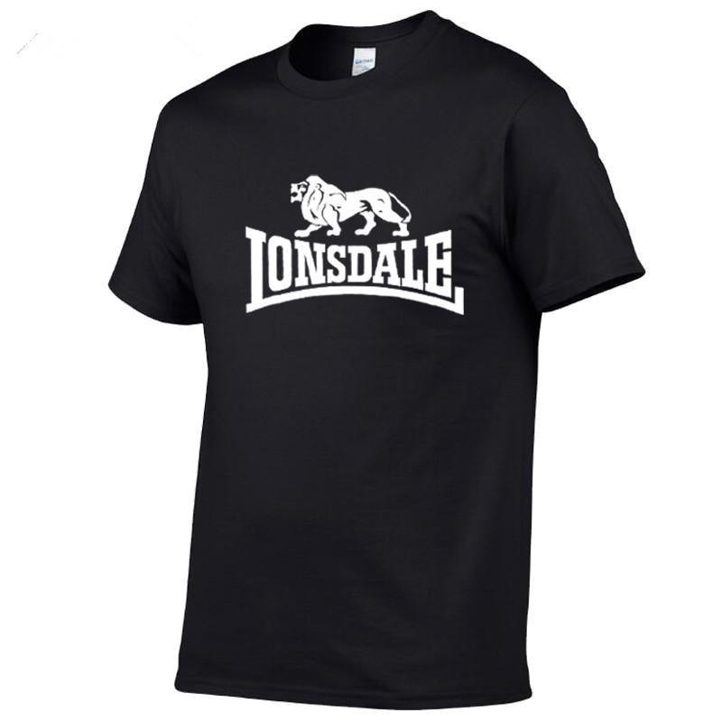 LONSDALE футболка с короткими рукавами для мужчин, 2020 хлопковая, сезон 100% LONSDALE футболка с короткими рукавами Футболки      АлиЭкспресс